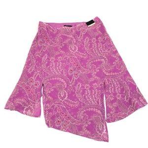 Lane Bryant Women's Hot Pink Asymmetric Skirt